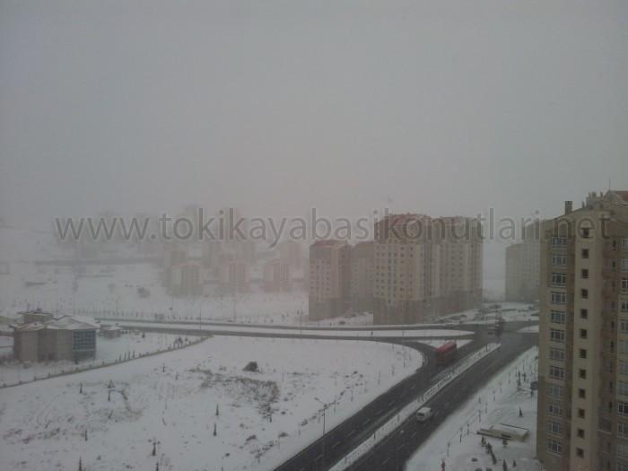 Kayaşehir Kar Manzara Resimleri