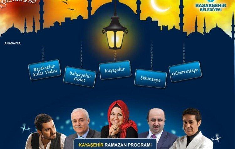 Kayaşehir Ramazan Etkinkleri Program Listesi