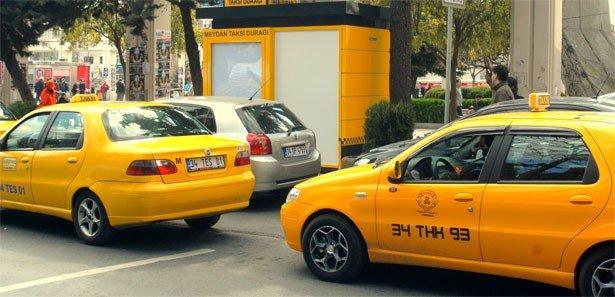 Taksimetre etiketi kelebek camında olacak