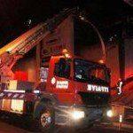 Başakşehir'deki bir AVM'de korkutan yangın