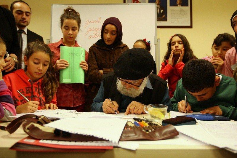 Kaligrafi Üstadı, Bilgievi Öğrencileri İle Buluştu