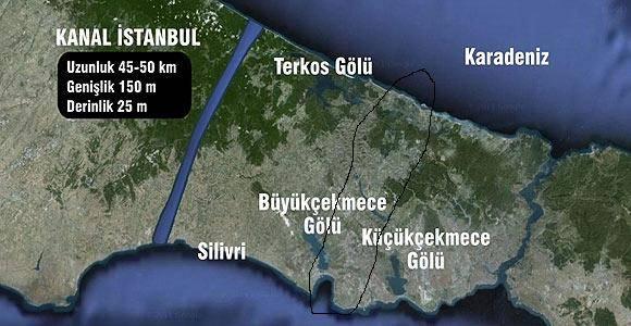 """""""Kanal İstanbul"""" Kayaşehire mi yapılacak?"""