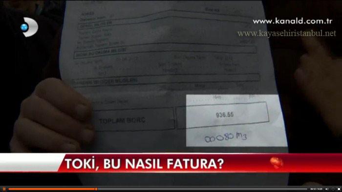 Kayaşehir Fatura Sorunu Kanal D Ekranlarında