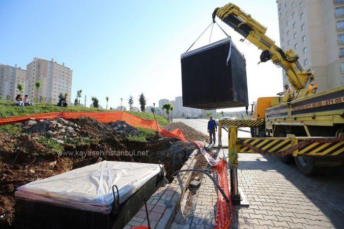 Kayaşehir'de Çöpler Yeraltına Alınıyor