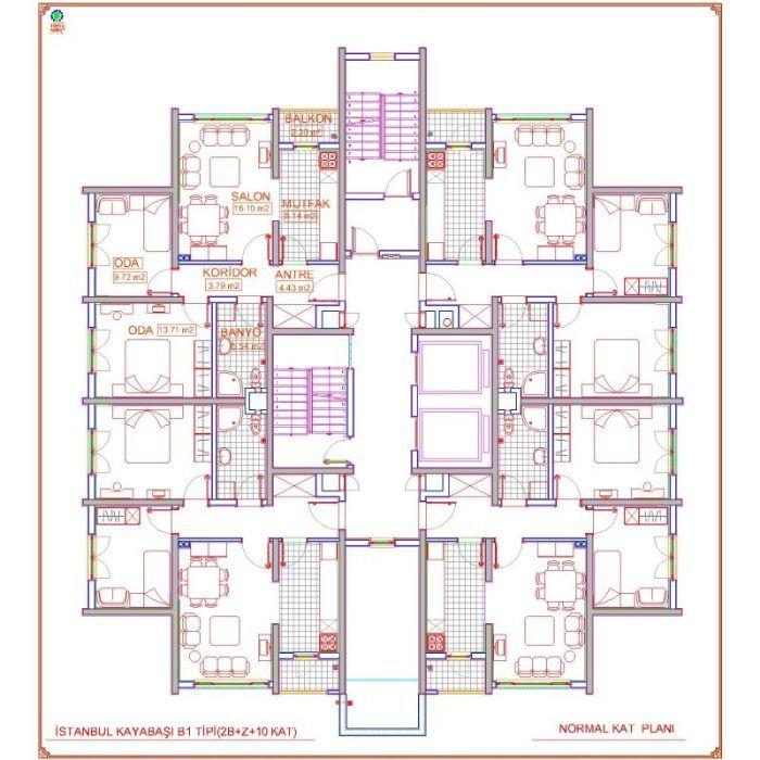 Toki Kayaşehir 21.Bölge Vaziyet Planı