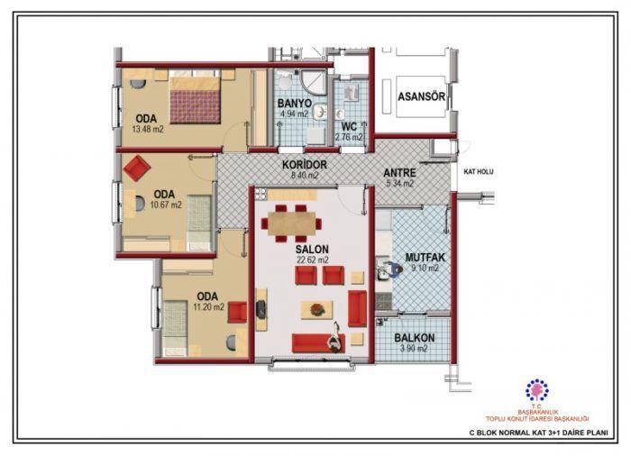 Kayaşehir 21.Bölge C Blok Vaziyet Planı