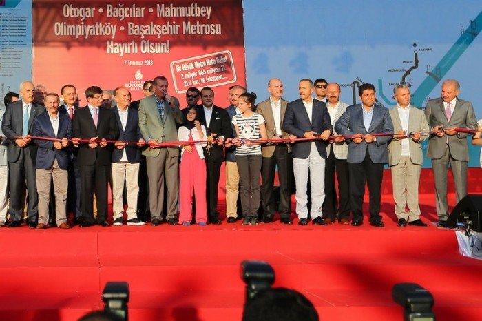 Başbakan Erdoğan, Başakşehir metro hattını açtı
