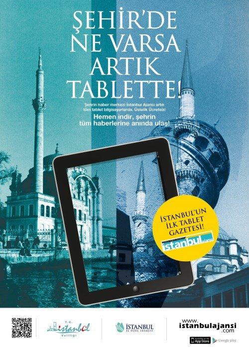 İstanbul Ajansı İstanbul'un İlk Tablet Gazetesi