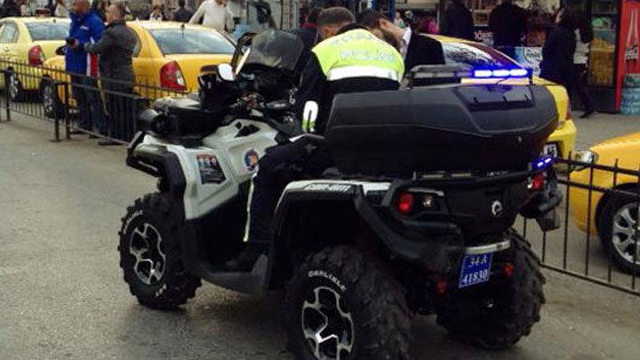 Trafik'te ATV motorlu polis dönemi başladı