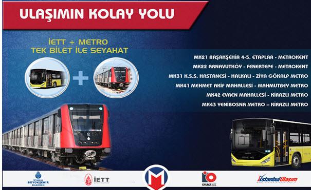 Başakşehir Metro'ya ring seferleri başladı