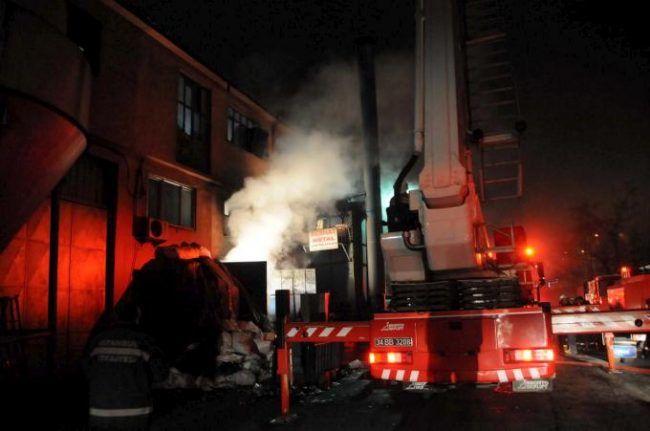 Kayaşehir'de korkutan yangın