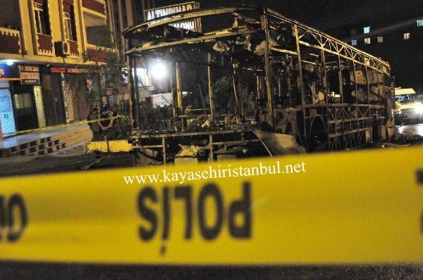 Başakşehir'de İETT Otobüsünü Yaktılar