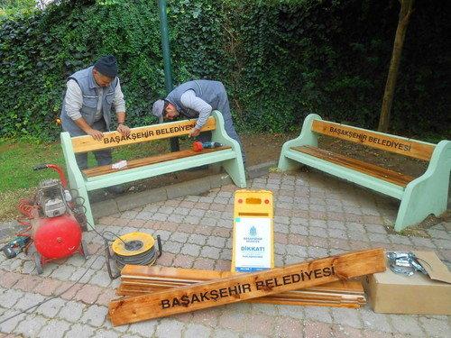 Başakşehir'de Park ve Bahçeler Müdürlüğü Çalışıyor