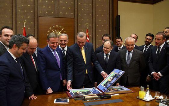 Cumhurbaşkanı İstanbul Başakşehir'i Kabul Etti