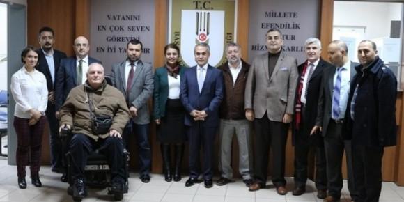 Kazım Tekin ile İnsan hakları yönetim kurulu Toplantısı