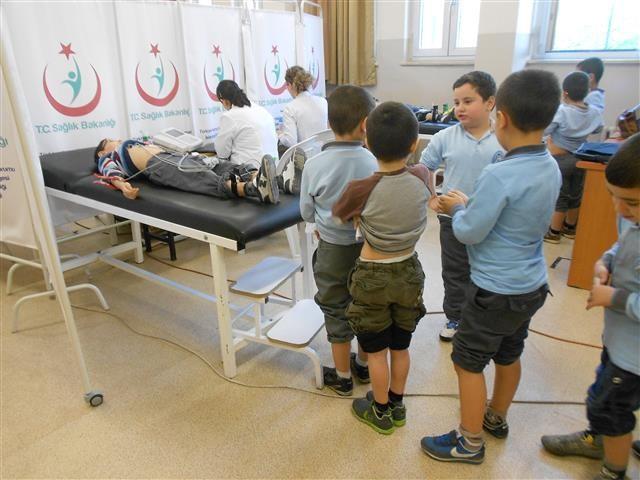 Toki Kayaşehir Mevlana İlkokulunda EKG Taraması