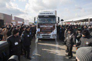 İBB'den 134 TIR Suriyeliler için