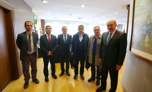 Samsun'lu heyet Başkan Uysal'ı ziyaret etti