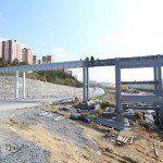 Onurkent Spor Parkı için köprü çalışması
