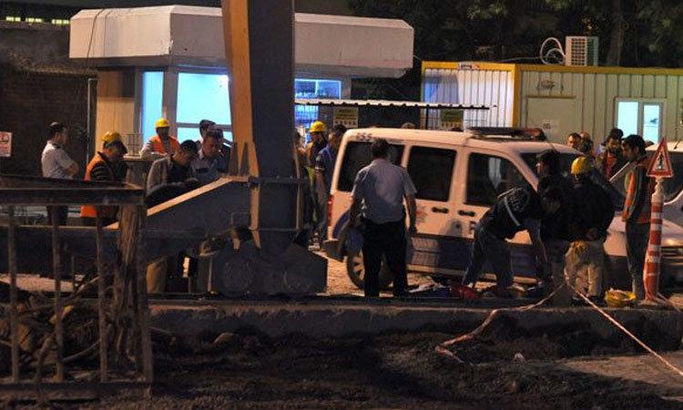 Metro inşaatında bir işçi kaza sonucu öldü