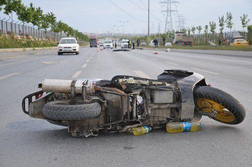 Başakşehir'de Motor Kazası