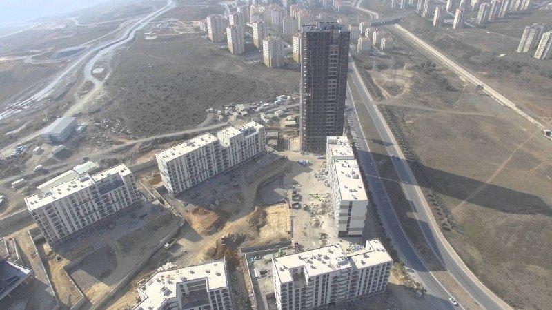 Emlak Konut Başakşehir Evleri Havadan video