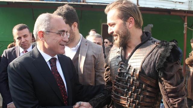 Kültür Bakanı Topçu'dan Diriliş Dizisini ziyaret Etti