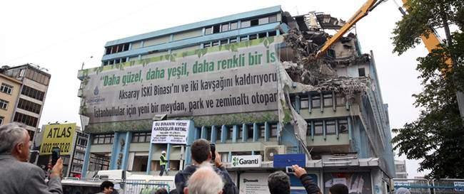 Aksaray İSKİ binası Yıkılıyor