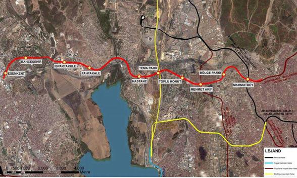 Mahmutbey Esenyurt metro hattı