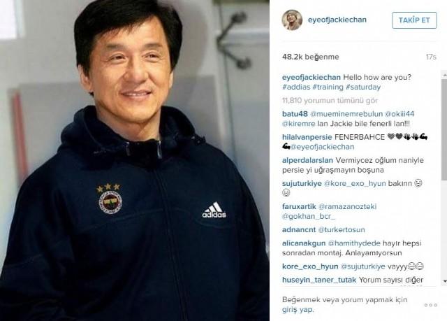 Jackie Chan, Fenerbahçe taraftarını coşturdu