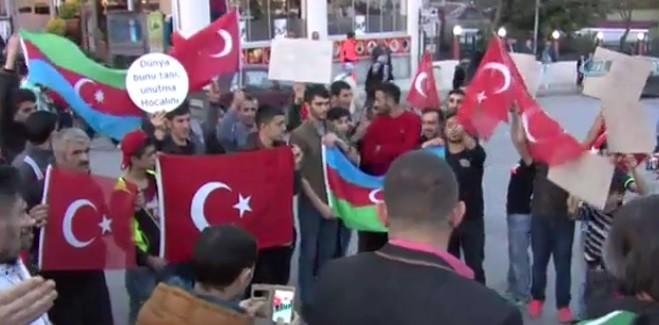 Başakşehir'de Ermenistan Protesto Edildi