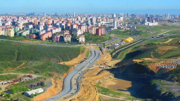 Başakşehir-Kayaşehir arası yol çalışması