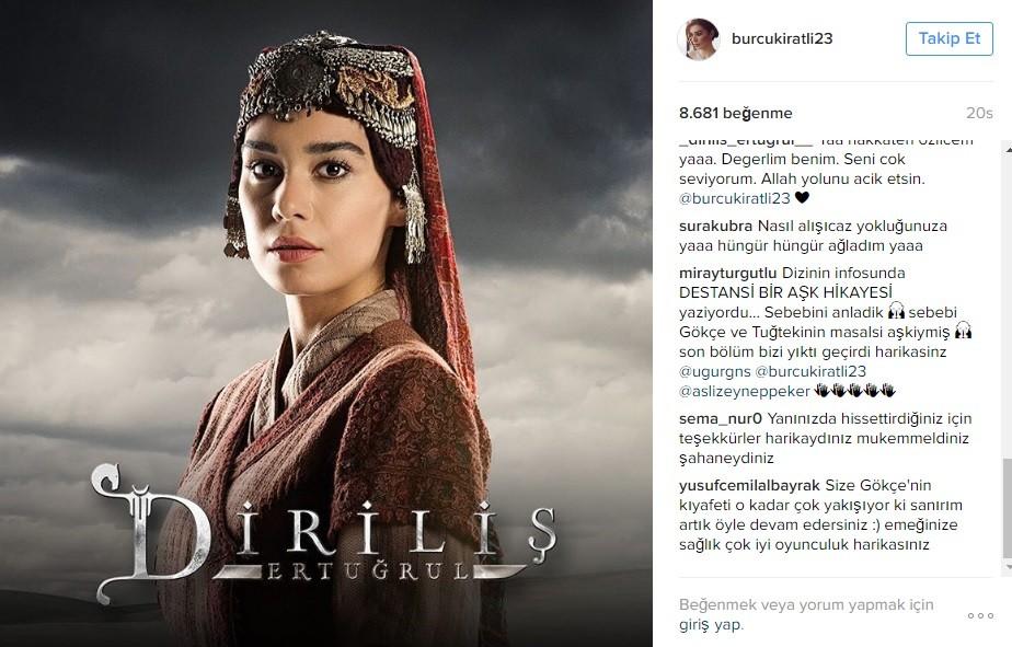 Burcu Kıratlı'dan 'Diriliş Ertuğrul' Veda mesajı