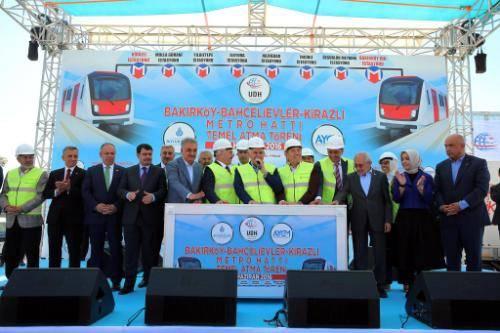 Kirazlı-Bakırköy Metrosu temel atma töreni