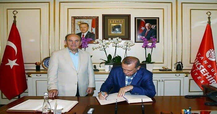 Cumhurbaşkanı Erdoğan İBB'ni ziyaret etti