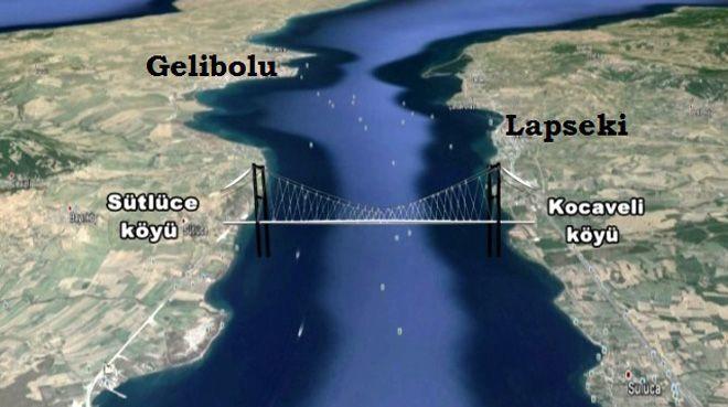1915 Çanakkale Köprüsü için ilk kazma 2017'de