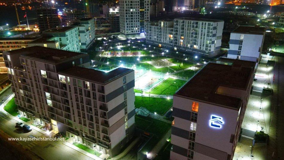 Başakşehir Evleri Muhteşem Gece Manzarası