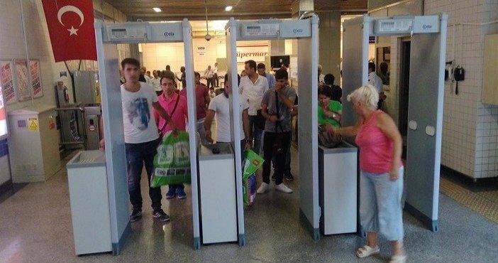Atatürk Havalimanı metrosuna x-ray cihazı konuldu