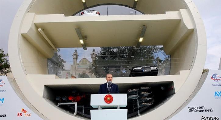 Cumhurbaşkanı Erdoğan Avrasya Tüneli