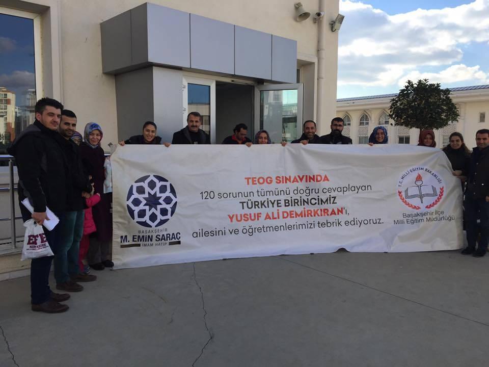 TEOG Türkiye Birincisi Başakşehir'den