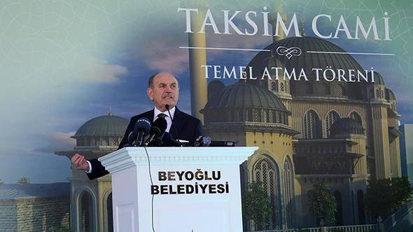 Taksim Cami Temel Atma