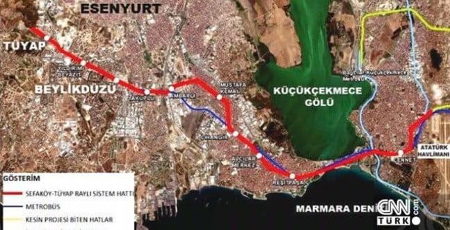 İstanbul'a yeni metro hattı