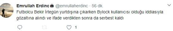 Bekir İrtegün'de ByLock çıktı iddiası!