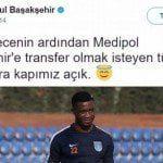 Olay tweet için Başakşehir'den açıklama