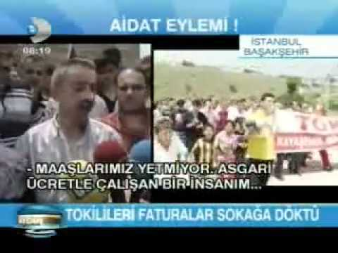 Toki kayaşehir aidat protestosu Kanal d'de