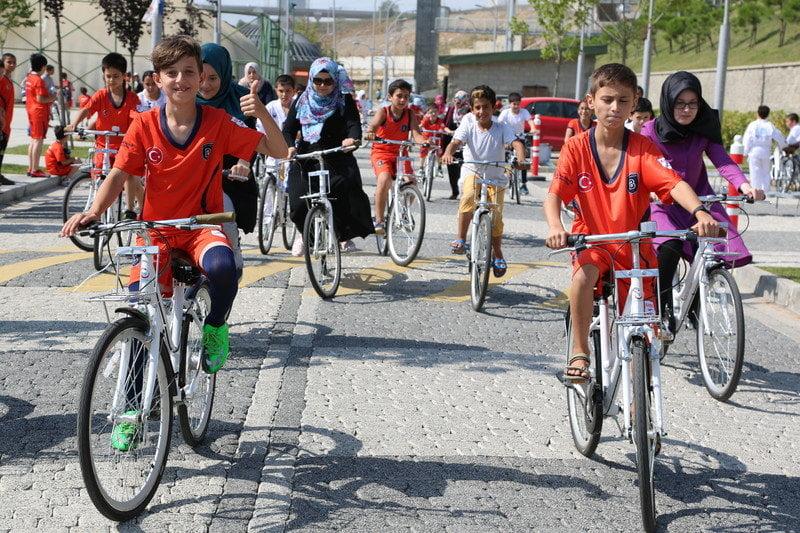 Başakşehir Spor Parkı'nda Bisiklet Keyfi