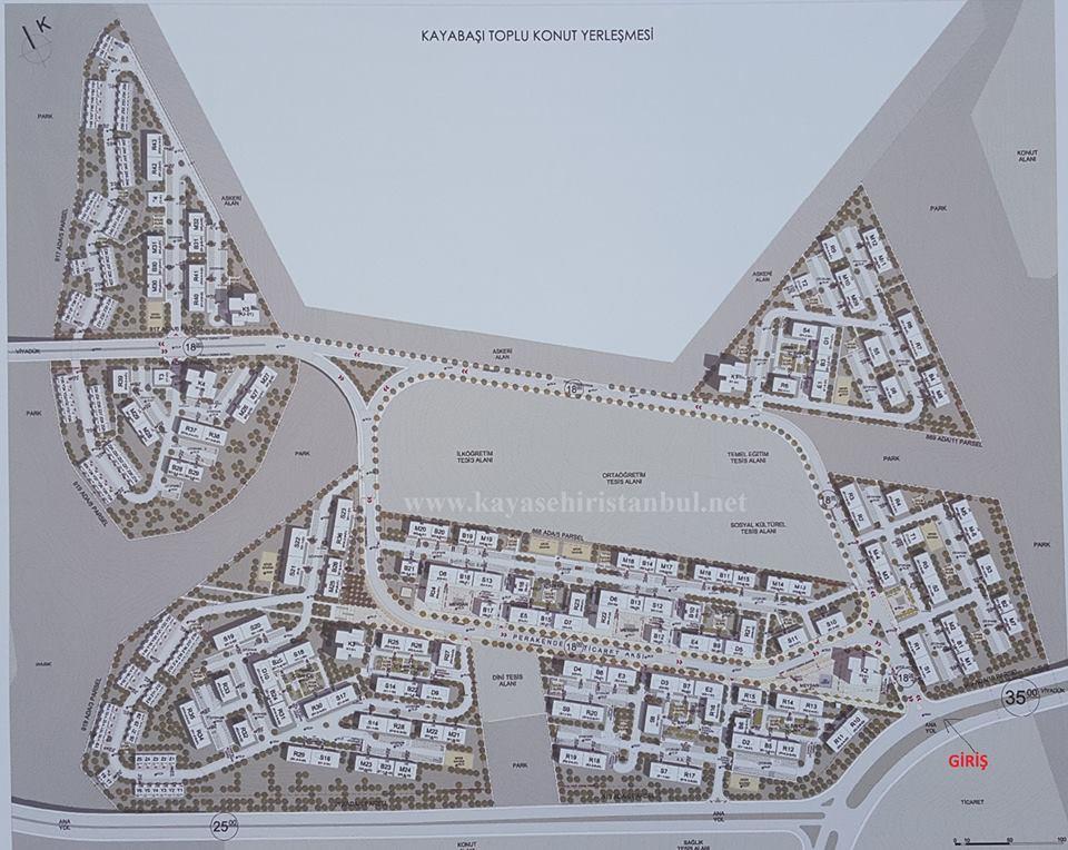 Toki Kayaşehir 24.Bölge Vaziyet Planları