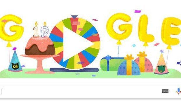 Google'dan 19.doğum gününe özel çarkıfelek