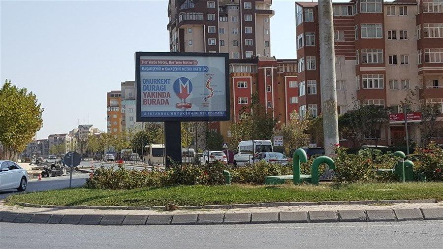 Onurkent Metro İstasyonu Görselleri
