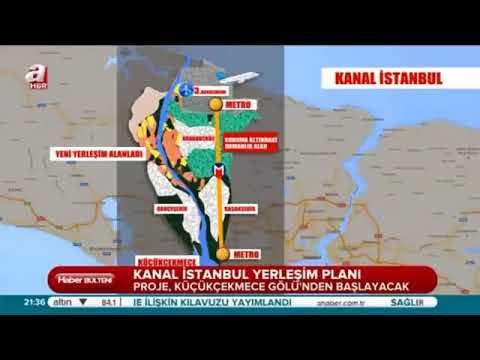 Resmi Kanal İstanbul Güzergahı